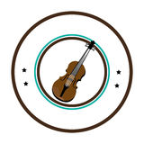 Chello instrument seal icon Royalty Free Stock Photography