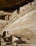chelly亚利桑那峡谷de pictograph废墟 免版税库存图片