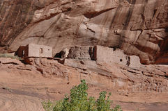 chelly峡谷de废墟 免版税图库摄影