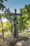 Chelm, Polen, am 10. September 2018: Kalvarienberg um die Basilika von stockfotos
