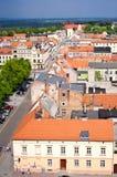 Chelmno city of Poland aerial view Royalty Free Stock Photos