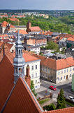 Chelmno city of Poland aerial view Royalty Free Stock Photography