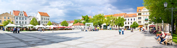 Chelmno city square panorama Royalty Free Stock Images