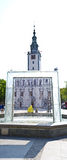 Chelmno city square white church Stock Photo