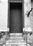 Chelmno de visita turístico de excursión Mirada artística en blanco y negro Imagen de archivo libre de regalías