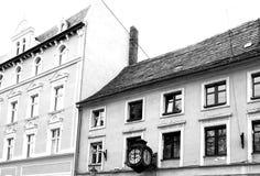 Chelmno facente un giro turistico Sguardo artistico in bianco e nero Fotografie Stock