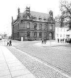 Chelmno facente un giro turistico Sguardo artistico in bianco e nero Fotografia Stock