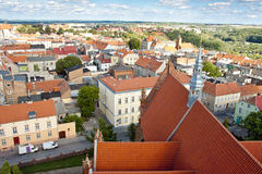 Chelmno Old Town - Aerial View. Stock Photo