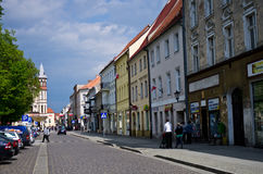 Chelmno Poland - city centre old street Royalty Free Stock Image