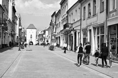 Chelmno Poland - city centre old street Royalty Free Stock Photography