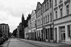 Chelmno Poland - city centre old street Stock Photo