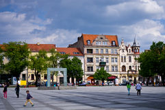 Chelmno Poland - city centre square Royalty Free Stock Photography