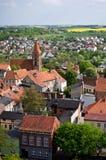 Chelmno stad av Polen den flyg- sikten Royaltyfri Foto