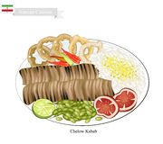 Chelow Kabab, The National Food of Iran Stock Photography
