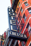 chelsea旅馆nyc 库存图片