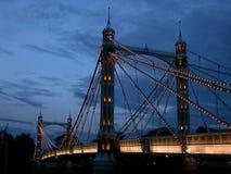 Chelsea桥梁,伦敦 免版税库存照片