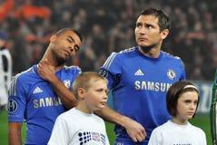 Chelsea足球运动员纵向 免版税库存照片