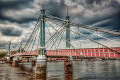 Chelsea Bridge in autumn Royalty Free Stock Photos