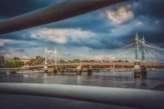 Chelsea Bridge in autumn. Chelsea Bridge over the river Thames, London, england Royalty Free Stock Images