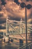 Chelsea Bridge in autumn. Chelsea Bridge over the river Thames, London, england Stock Image
