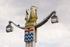 Chelsea Bridge Lampost Royalty Free Stock Images