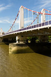 Chelsea Bridge. Over the river Thames in London, Battersea power station in the background Stock Image