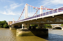 Chelsea Bridge. Over the river Thames in London, Battersea power station in the background Royalty Free Stock Photography