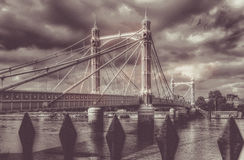 Chelsea Bridge retro Royalty Free Stock Photography