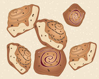 Chelsea buns Stock Images