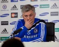 Chelsea: Carlo Ancelotti - 2009/12/30 #1 Stockbild