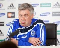Chelsea: Carlo Ancelotti - 2009/12/30 #2 Lizenzfreie Stockfotos