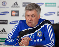 Chelsea: Carlo Ancelotti - 2009/12/30 #4 Royalty Free Stock Photos