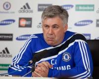 Chelsea: Carlo Ancelotti - 2009/12/30 de #4 Fotos de Stock Royalty Free