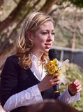 Chelsea Clinton comunica nel Texas del sud Immagine Stock Libera da Diritti