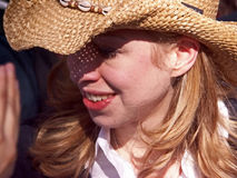 Chelsea Clinton in Texas Royalty Free Stock Photography