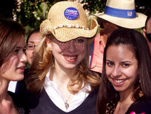 Chelsea Clinton in Texas university Stock Photos