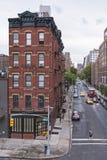 Chelsea District av New York City på en regnig dag fotografering för bildbyråer