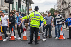 Chelsea fans after the match Stock Images