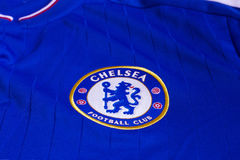 Chelsea FC emblem. Chelsea FC emblem on Chelsea FC blue jersey Royalty Free Stock Photography