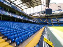 Chelsea FC Stamford Bridge Stadium. Empty seats on a non-match day at the Chelsea FC Stamford Bridge Stadium on July 24, 2011. The stadium capacity is 41,837 Royalty Free Stock Image
