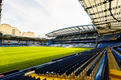 Chelsea FC Stamford Bridge Stadium. Chelsea Football Club Stamford Bridge Stadium, London, United Kingdom.  The stadium capacity is 41,837 making it the eighth Stock Photo