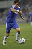 Chelsea football club player Fernando Torres. KUALA LUMPUR - JULY 21 : Chelsea football club player Fernando Torres controls a ball during a friendly match Royalty Free Stock Images