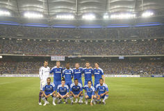 Chelsea football club players. KUALA LUMPUR - JULY 21 : Chelsea football club players pose photographers before a friendly match against Malaysia XI on July 21 Royalty Free Stock Image