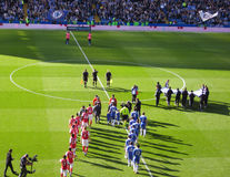 Chelsea Football Stadium, Match Day Stock Images