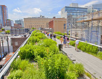 Chelsea High Line-Park lizenzfreie stockfotografie
