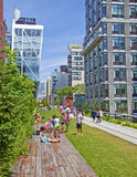 Chelsea High Line park Royalty Free Stock Photo