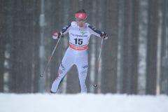 Chelsea Holmes - Cross Country-Skifahren Lizenzfreie Stockbilder