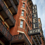 Chelsea Hotel, New York, NYC, Etats-Unis Images stock