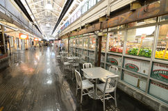 Chelsea Market. Is an upscale gourmet market built in a historic renovated warehouse in New York, NY