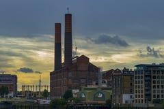 Chelsea nabrzeża elektrownia Zdjęcia Royalty Free